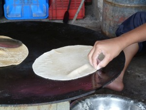 Picture of making chapatis